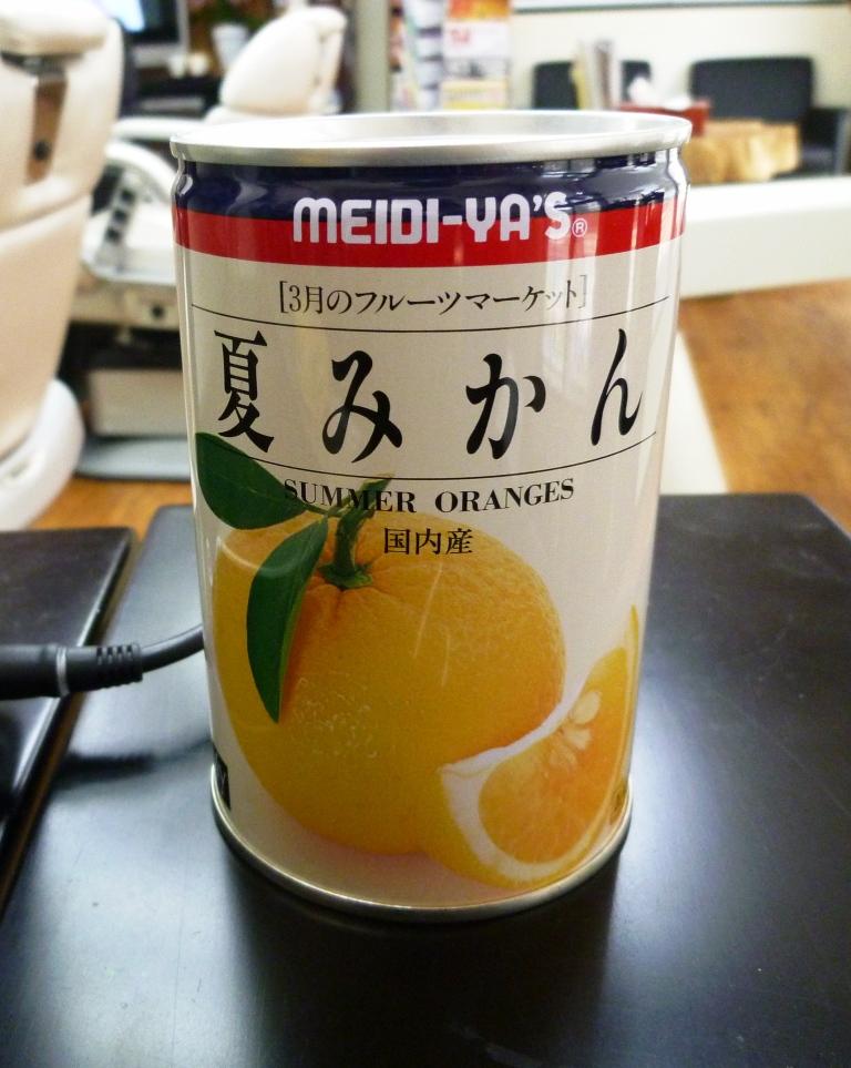 おすすめ食品01 夏みかんの缶詰