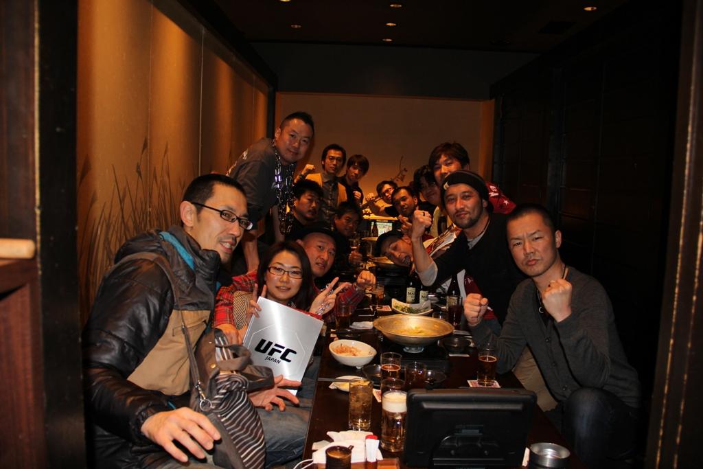 UFC144JAPAN写真6 格闘技ファンが集う飲み会