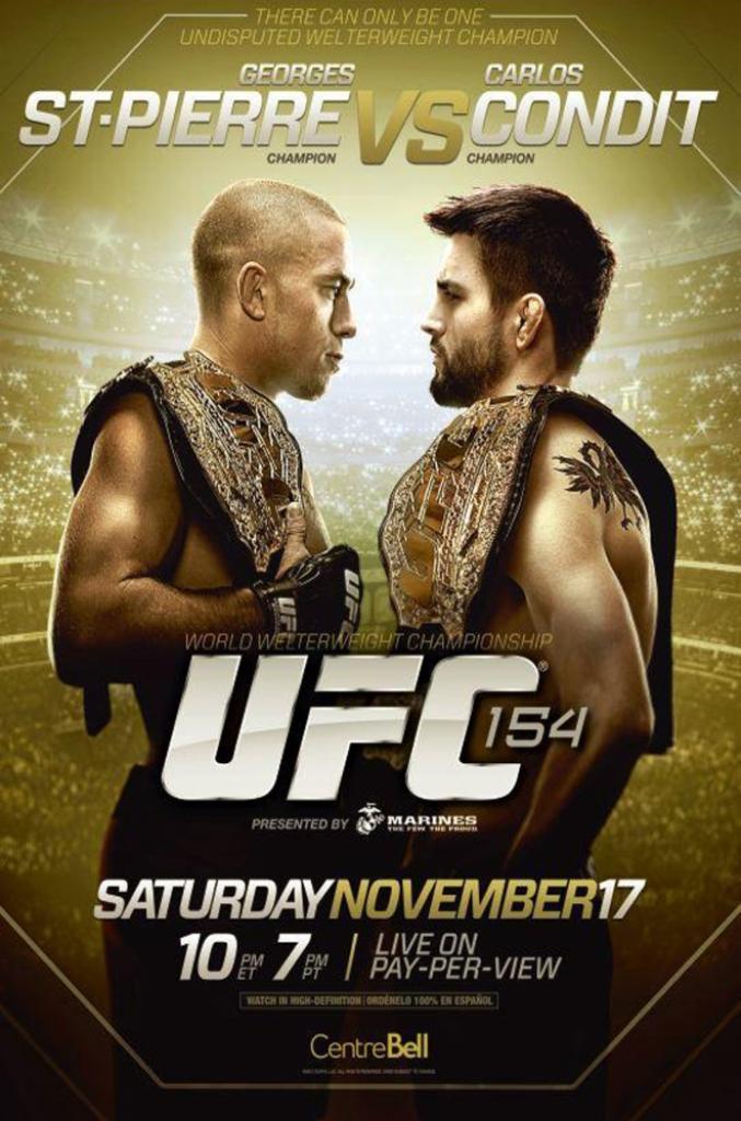 UFC154 GSPとカーロス・コンディットと松原