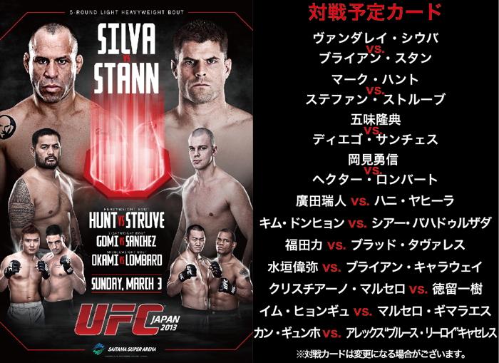 明日はいよいよUFC JAPAN 2013 地元観戦会の案内
